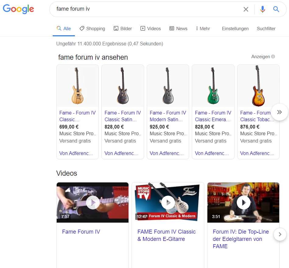 Fame Forum-Listing-Google